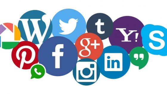 social media marketing icons